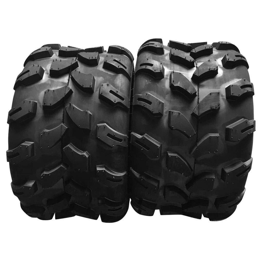 Set Of 2 ATV UTV 18X9.5-8 Rear Left And Right Tubeless Sport Tires 4 Ply Load Range B Z-124 ATV UTV Off-Road All-Terrain Tires by TRIBLE SIX