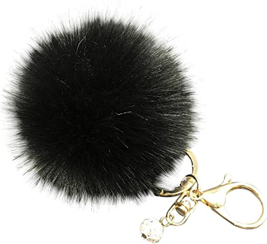 Keychain Fluffy Furry Pendant New Faux Fur Pom Pom Keyring Charm for Handbag