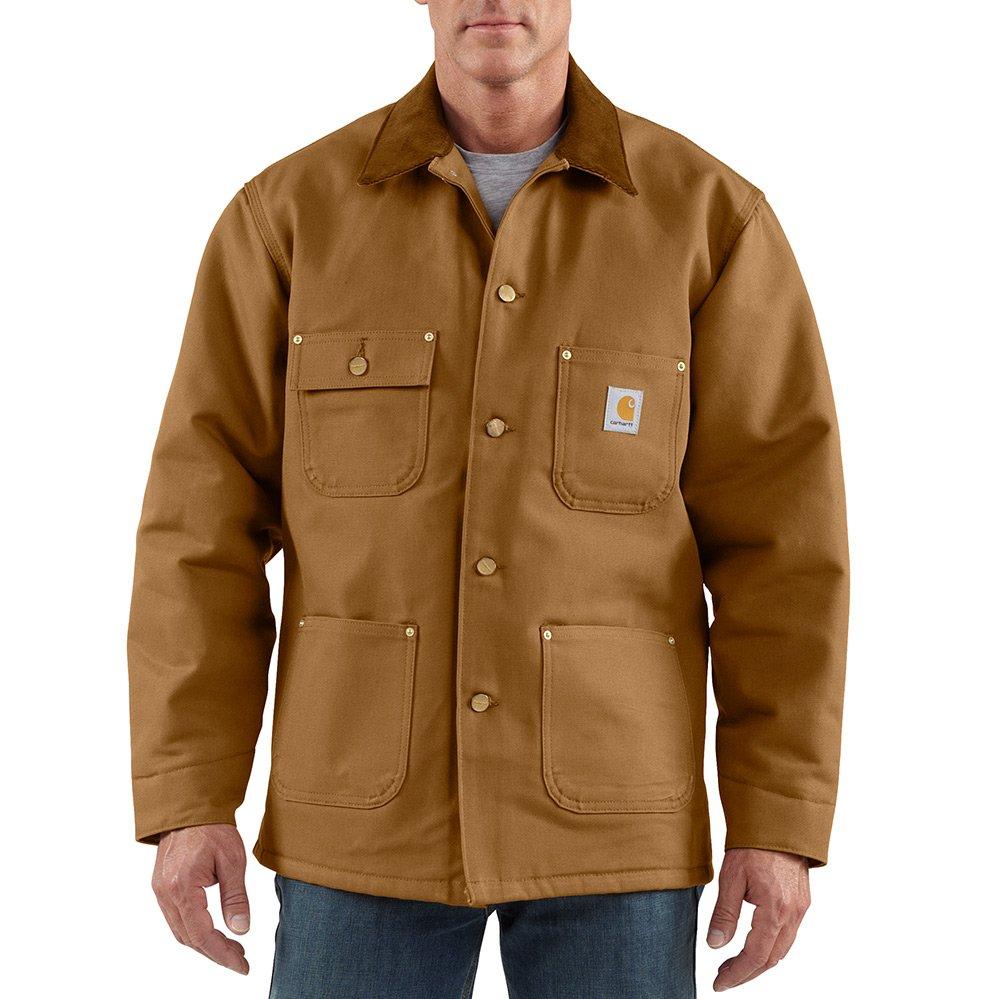Carhartt Men's Duck Chore Coat Blanket Lined C001,Brown,Large by Carhartt