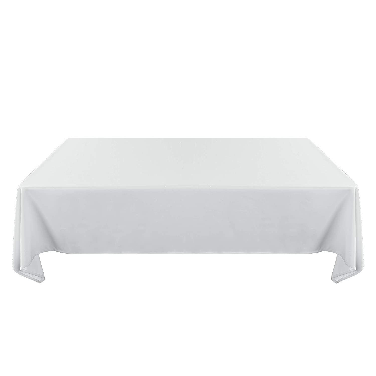 SUO AI TEXTILE Solid Oxford Oblong Spillproof Wrinkle Resistant Tablecloth for Dining 54 Inch 72 Table Cover White