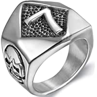 Jude Jewelers Stainless Steel Gothic Skull Number Seven 7 Biker Ring