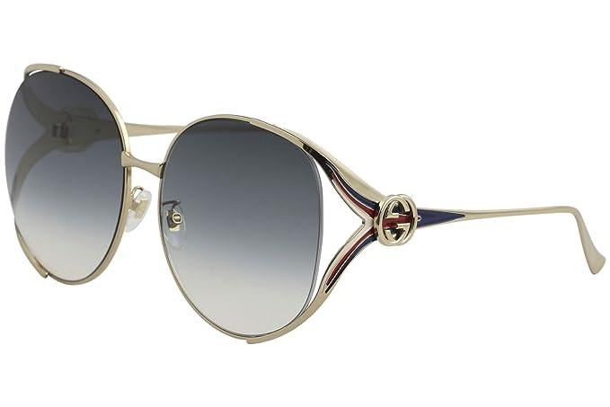 Gucci GG0225S 004 Gafas de sol, Dorado (4/Grey), 63 para ...