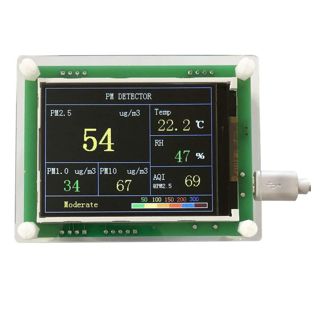 2, 8-Zoll-Auto PM2.5 Luftqualitä ts-Detektor Digital Luftpartikel messen Meter (Farbe: grü n) FairytaleMM
