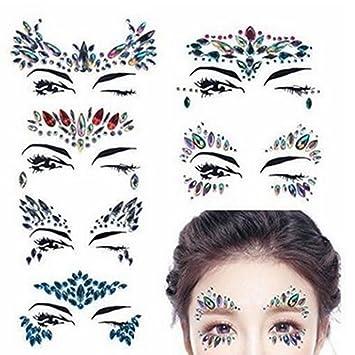 Visage Gemmes Festival brillantes Adhesif tatuaje maquillaje ...