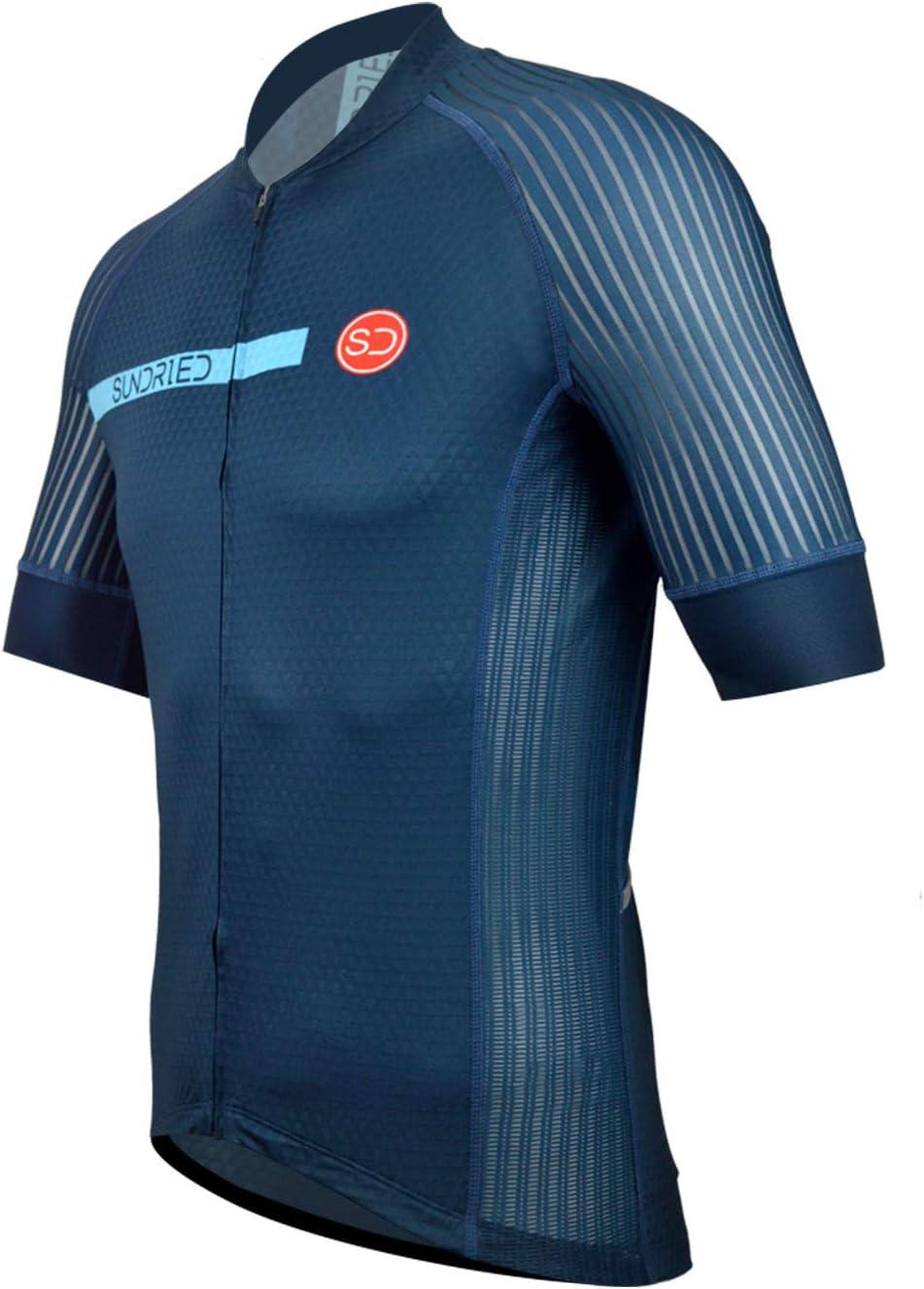 Sundried Mens Pro Short Sleeve Cycling Jersey Bike Shirt Cycle Wear For Road Bike Mountain Bike
