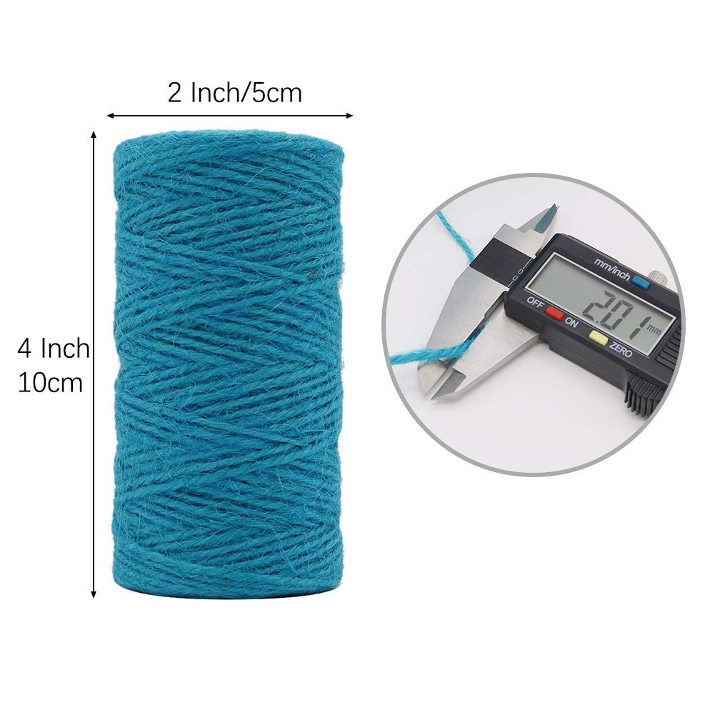 335 Feet 2mm Jute Rope Gift Twine Packing String for Craft Projects Tenn Well Jute Twine String Black Gardening Applications Wrapping