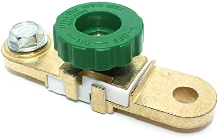 Car Battery Terminal Link Switch Quick Cut-off Disconnect 10mm Battery Pile Head Green Head