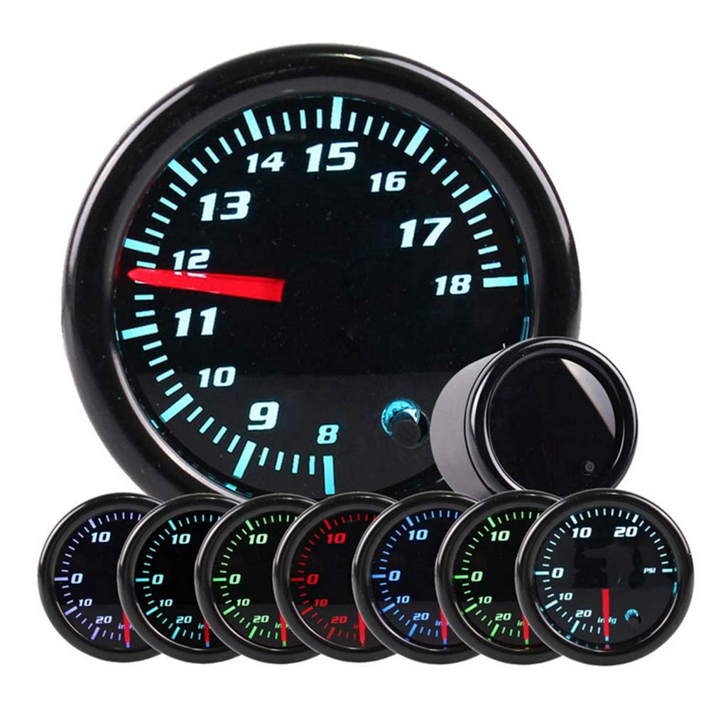 KIMISS 2inch 10-15V Car Oil Temp Gauge Digital Oil Temperature Meter Gauge with Sensor 7 Color by KIMISS (Image #6)