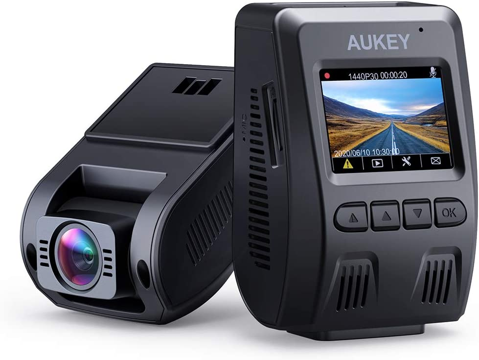 Amazon.com: AUKEY Dash Cam FHD 1080p Car Camera Supercapacitor 170 Degree 6-Lane Wide Angle Lens Dashboard Camera Recorder with G-Sensor, WDR and Motion Dection
