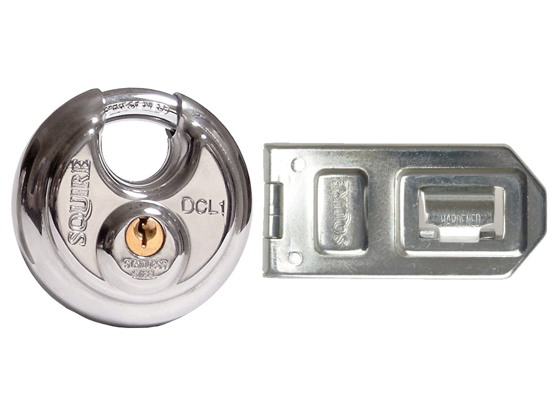 Squire DCL1/DCH1 Discus Padlock & dch1 hasp Henry Squire