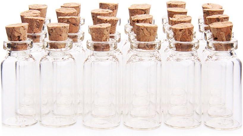 2 ml 16 x 35 mm Tiny vacío Borrar Cork botellas de vidrio viales con tapón de corcho botella de cristal en miniatura pequeño mini botellas de cristal con corcho parte superior para DIY