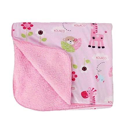 domybest recién nacido bebé regla Plush Estampado Floral manta ropa ...