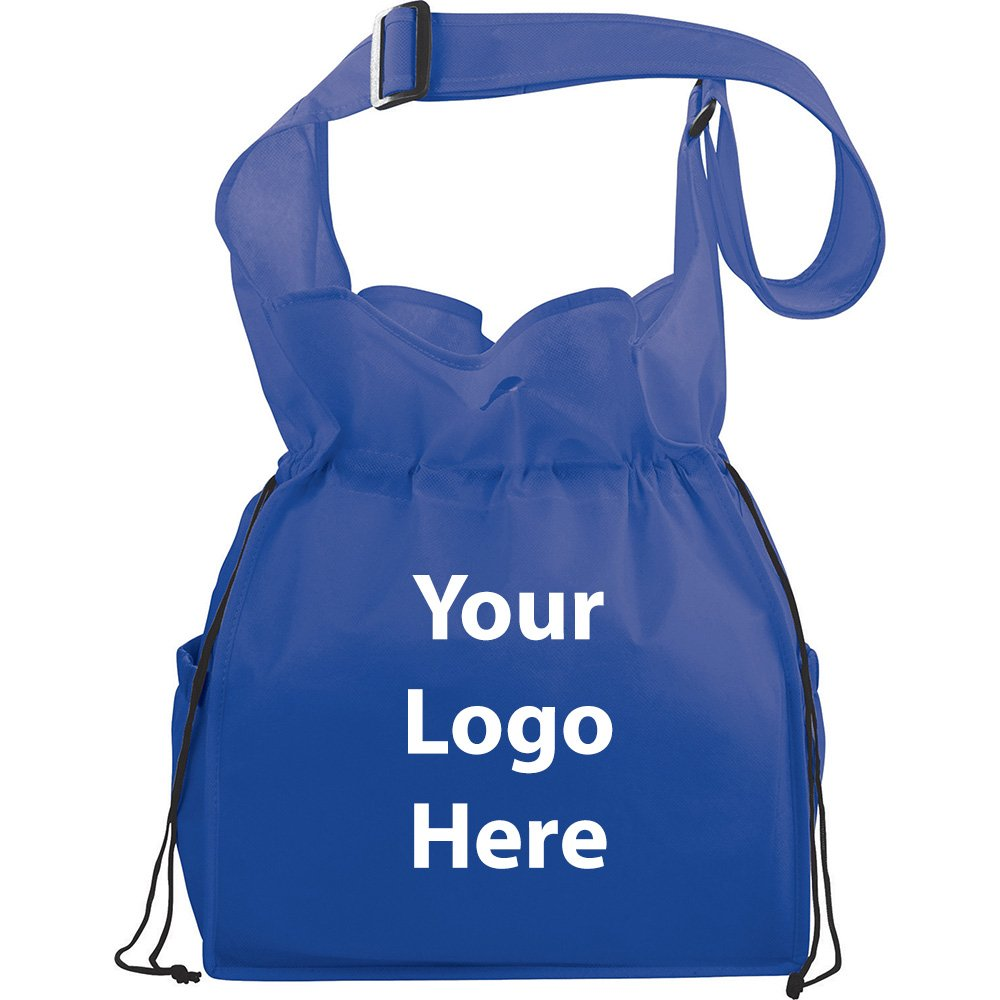 Social Cinch Shoulder Tote - 125 Quantity - $3.45 Each - PROMOTIONAL PRODUCT / BULK / BRANDED with YOUR LOGO / CUSTOMIZED