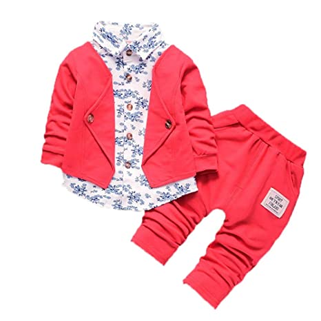8d6f411e9798d Kid Baby Boy Gentry Clothes Set Formal Party Christening Wedding ...