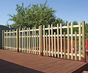 Castle Round Top Palisade Fence Panel 1.2m high