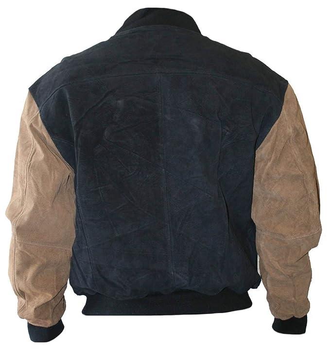 Classyak Bomber Stile di Moda Uomo Nero   Marrone Jacket  Amazon.it   Abbigliamento 5478ad12cca