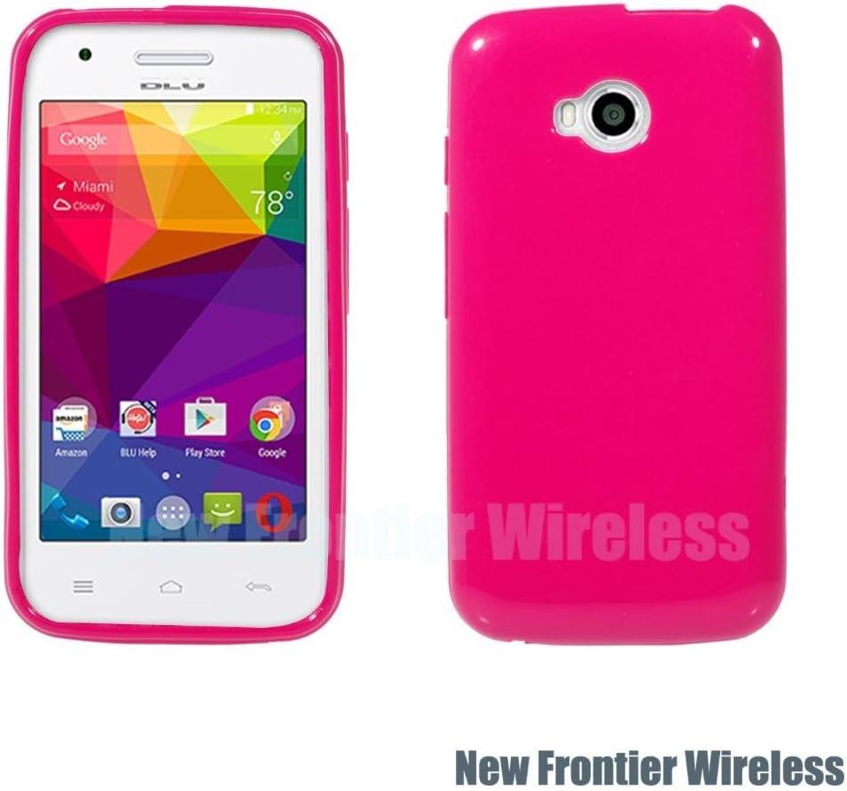 BLU Dash L (D050U) TPU Gel Rubber Soft Skin Silicone Protective Case Cover (TPU Pink)
