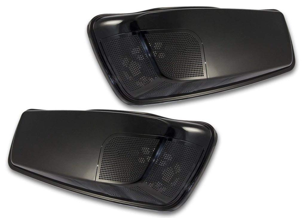Bagger Brothers BB-HB1584-001N Vivid Black Single 5x7 Speaker Lids for 2014-2019 Harley-Davidson Touring Models