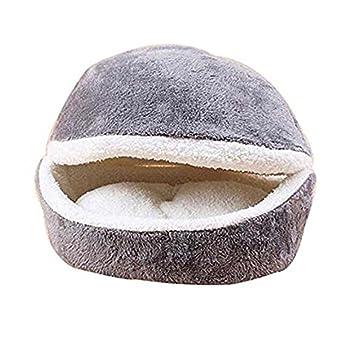 Hamburguesa Diseño Cama Para Mascotas en Forma de Concha del Gato del Saco de Dormir (Gris): Amazon.es: Hogar