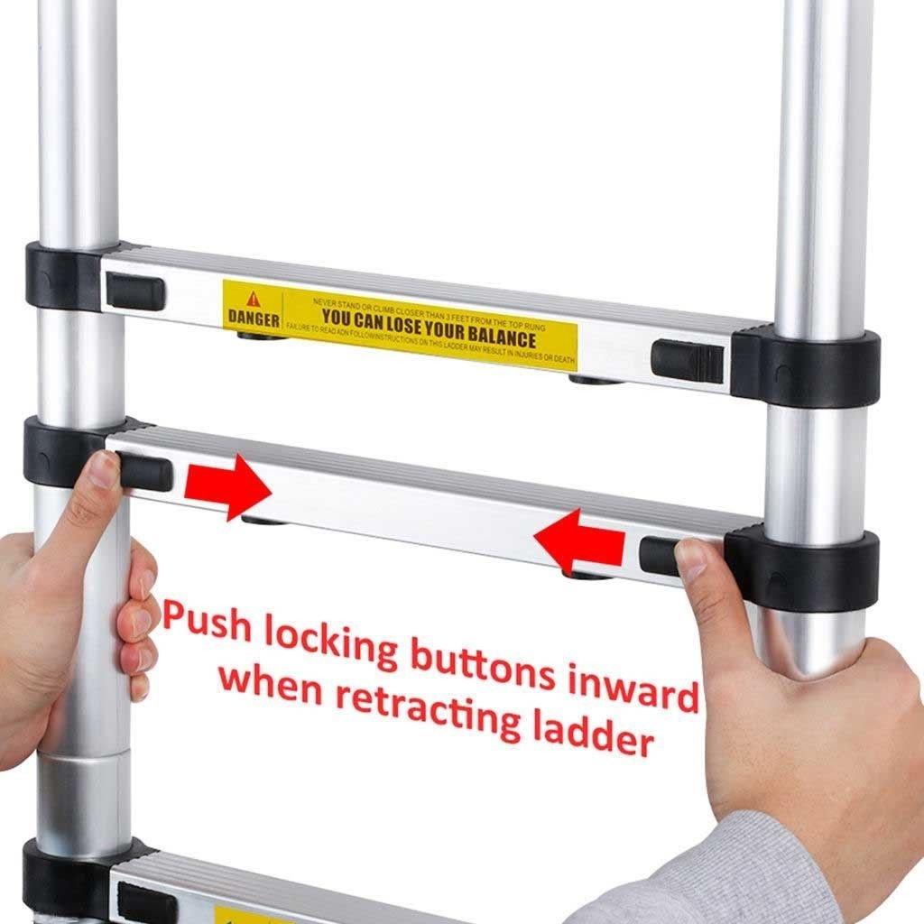 3,2m /Échelle T/élescopique /Échelle Extensible Portable Multifonction Aluminium Echelle /Échelle dextension de loft de 11 /étapes