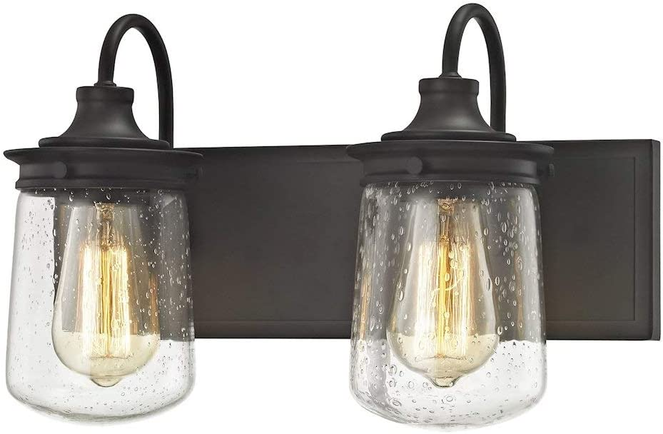 Elk Lighting 81211 2 Vanity-Lighting-fixtures, 10 x 15 x 7 , Bronze