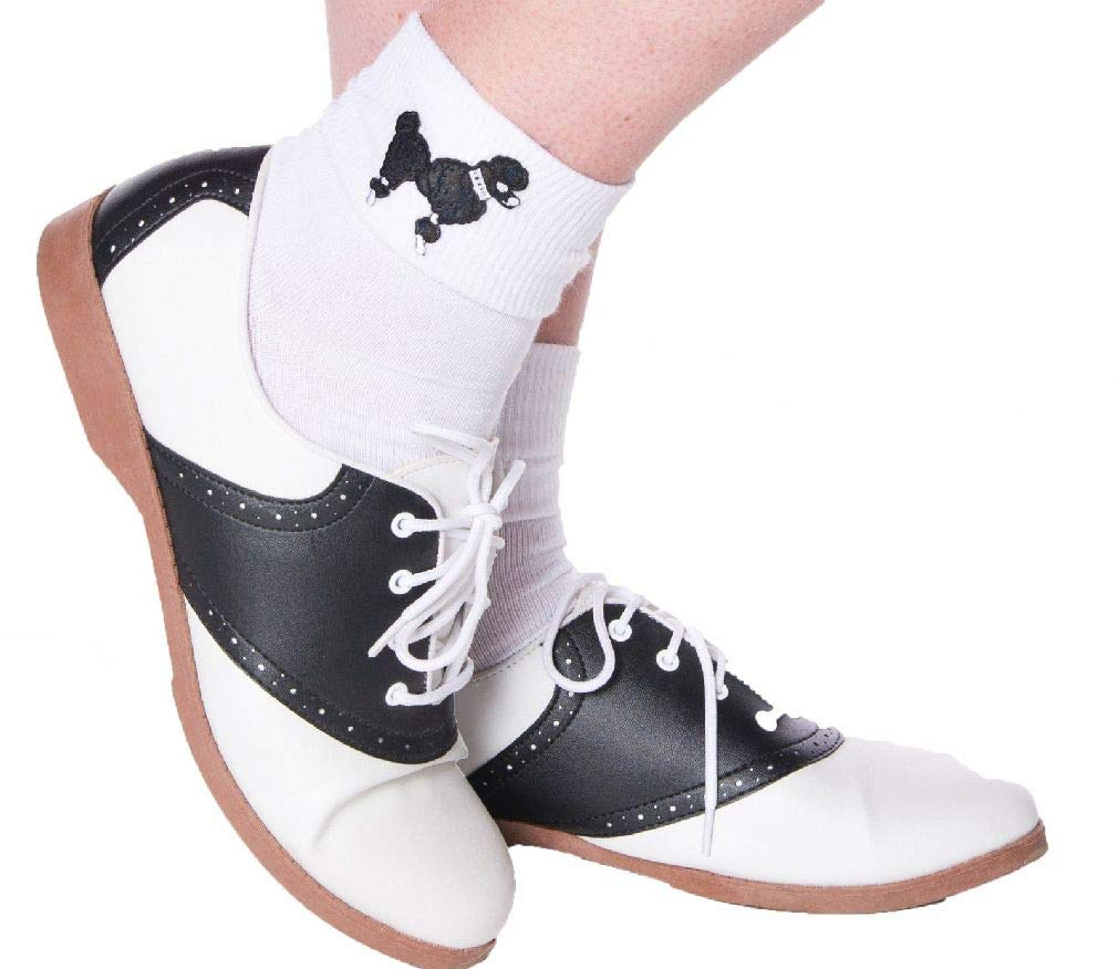 1950S Adult Classic Style Oxford Saddle Shoes for Poodle Skirt Costumes