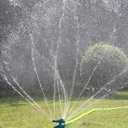 creatspaceE - Aspersor de riego automático para jardín (rotación de 360 Grados, 3 boquillas de riego), Color Verde: Amazon.es: Hogar