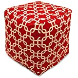 Majestic Home Goods Red Links Indoor/Outdoor Cube, Small