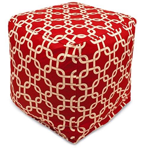 (Majestic Home Goods Red Links Indoor/Outdoor Cube,)