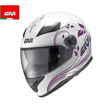 GIVI H504FNPWH56 Hps 50.4B Integral Casco con Visera, Color Blanco Mate, Talla 56