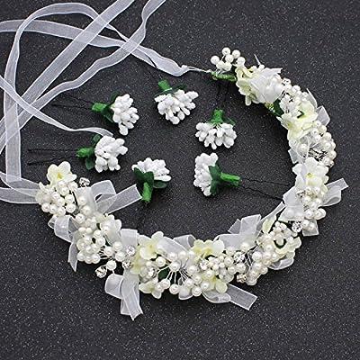 XPY&DGX Accessoires De Cheveux De Mariée En Épingle À Cheveux De Mariage,Couronnes de mariée coiffure accessoires de cheveux Set violet tissu fleur fleur bijoux de mariage accessoires de robe,