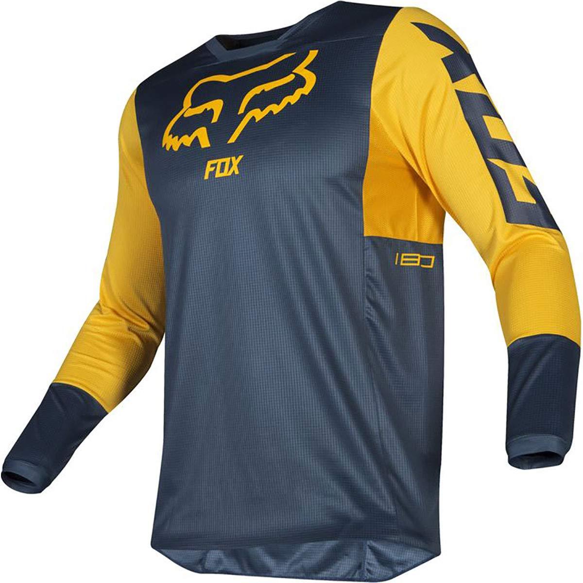 Fox Racing 2019 180 Przm Jersey-Navy/Yellow-XL