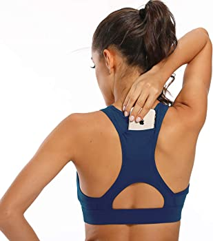 Ultrafun Wirefree Padded Women's Sports Bra w/Back Phone Pocket