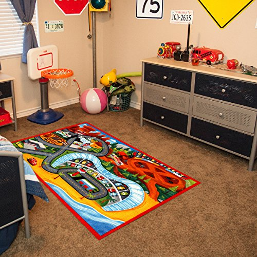 Play Red Carpet (Gertmenian Disney Cars3 HD Kids Play Rug, Red, 40