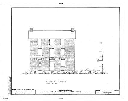 historic pictoric blueprint diagram habs pa,23-nor,1- (sheet 4