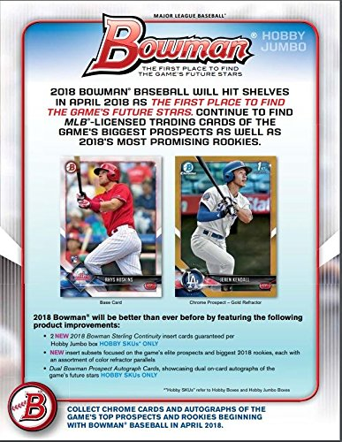 Amazon.com: Topps 2018 Bowman Baseball (12 Pack) Hobby Jumbo ...
