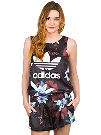 adidas Originals Womens Womens Lotus Print All in One Playsuit in Black - 14 68b9bdae3