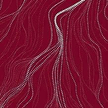 Australian Aboriginal fabric, Sandhill Red by Anna Pitjara