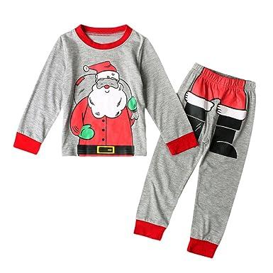 ff3b375627cf1 Kolylong 2018 Noël 2pcs vêtements Ensemble bébé Enfants Filles hvier Pull  Top père noël imprimée +