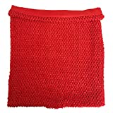 Red Lined Crochet Tutu Tube Tops Adult Size 14 Inches X 16 Inches Women Crochet Top