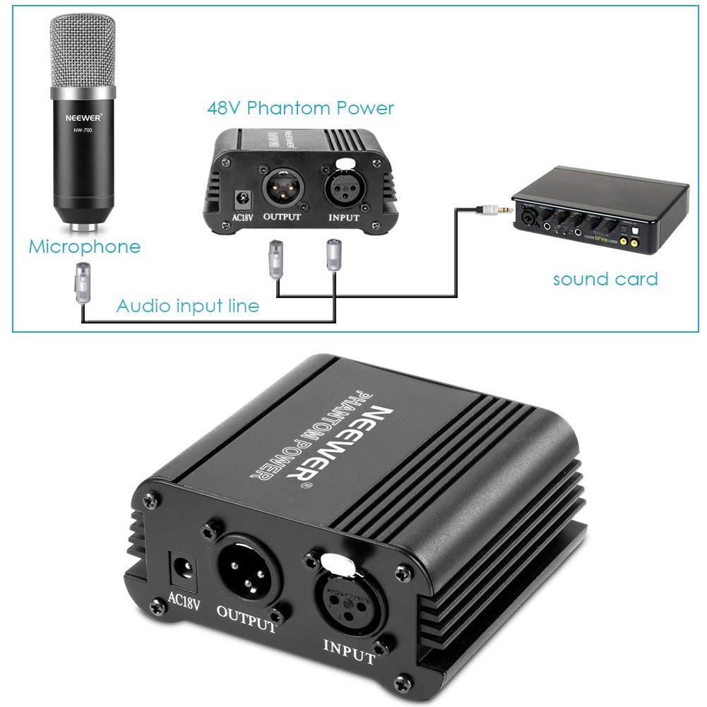 Amazon.com: Neewer & Phantom Power Kit de Micrófono: (1 ...
