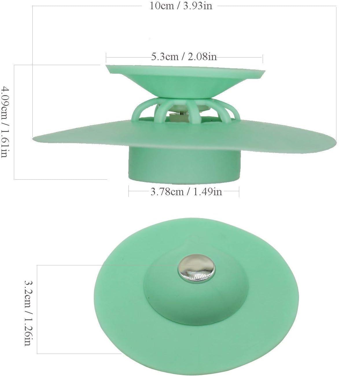 Freyamall 5 Pack 2-in-1 Tappi Tappo di Scarico Tappo in Silicone per Bagno Doccia Scarico Tappo Vasca Buona Grips Catchers per Lavello Piano Cucina