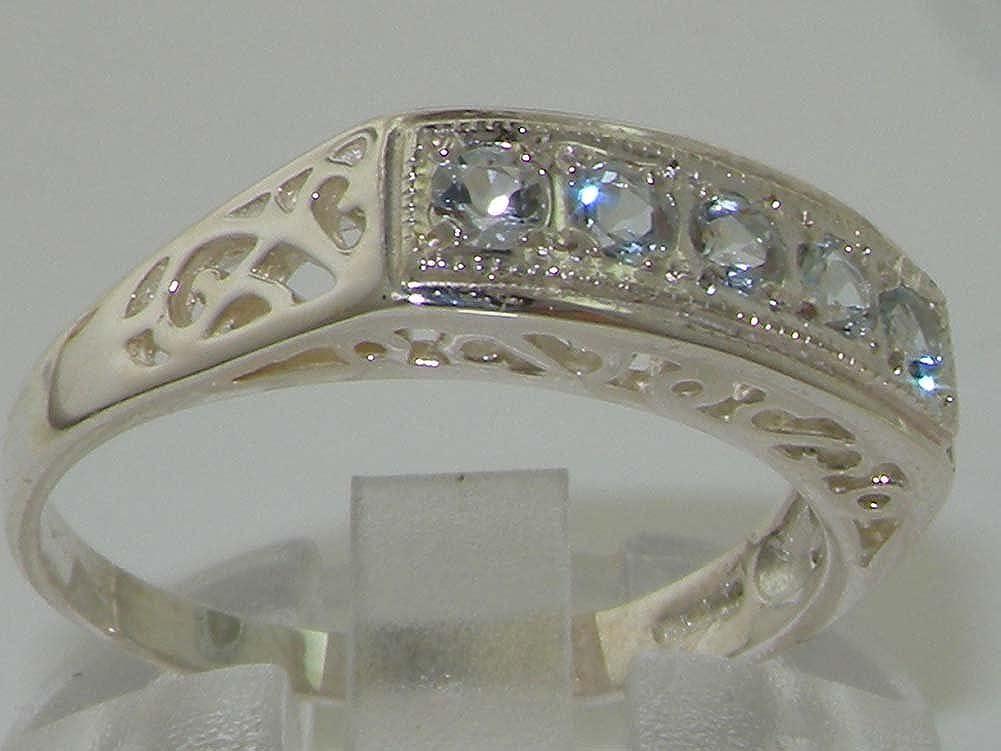 Peora 14K White Gold Green Amethyst Solitaire Ring 2.00 Carat Princess Cut