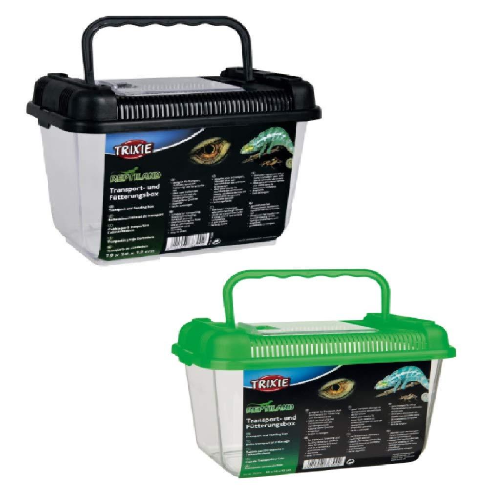 Trixie Reptilien Transport- und Fütterungsbox Kunststoff, leicht zu reinigen leicht zu reinigen (19 × 14 × 12 cm) Trixi- scalesport