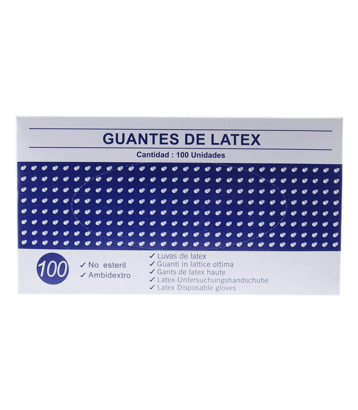 Guantes de latex caja de 100U Grande