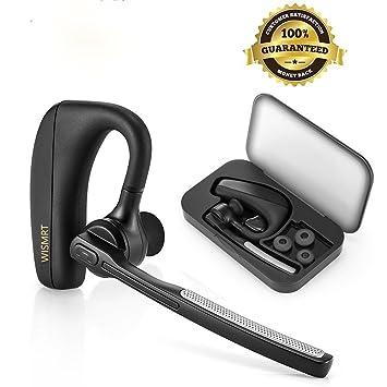 Auricular Bluetooth, wismrt V4.1 Auricular inalámbrico de manos libres en Ear auriculares coche