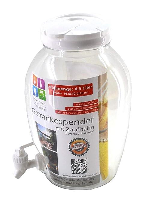 Dispensador de bebidas con grifo (4,5L dispensador de agua plástico; Depósito Donativos