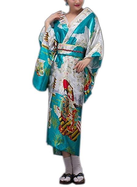 Señoras Geisha Japonesa Kimono Bata Larga Bata Pijama ...