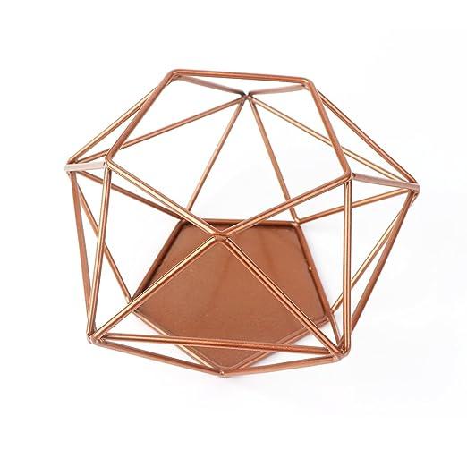 Amazon De Aytai Geometrische Kerzenhalter Upgrade Kupfer Hohl