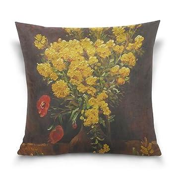 Amazon Suabo Poppy Flowers By Vincent Van Gogh Cotton Velvet